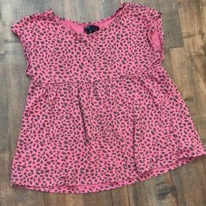 Gap kids cheetah print shirt